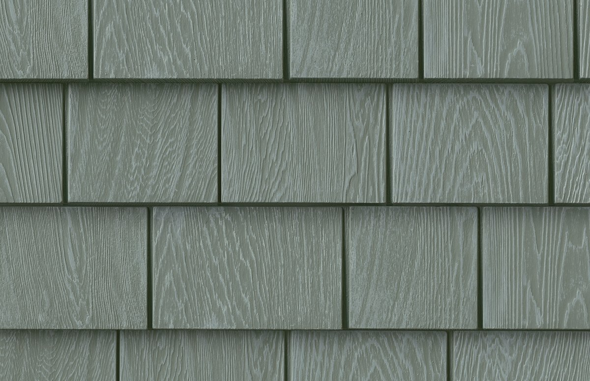 Grayne 6-1/2 in. x 60-1/2 in. Ridge Moss Engineered Rigid PVC Shingle Panel 5 in. Exposure (24 per Box)