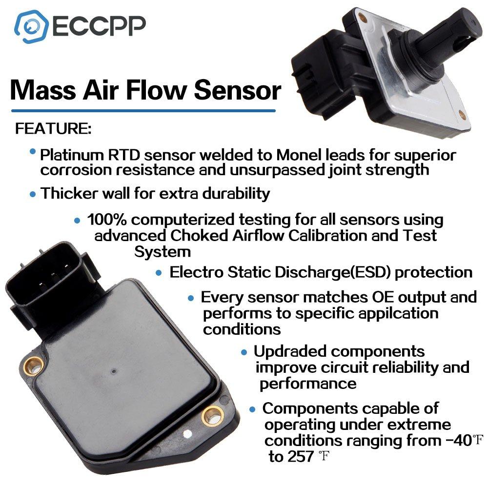 Mass Air Flow Sensor Meter Eccpp Maf Af10201 For Nissan Detector Circuit Frontier 1998 1999 2000 2001 2002 2003 2004 Xterra Automotive