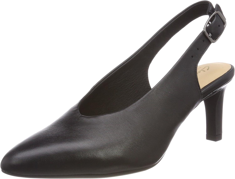 TALLA 37 EU. Clarks Calla Violet, Zapatos de Talón Abierto para Mujer