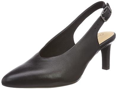 Zapatos de tacón abiertos marca clarks de segunda mano por