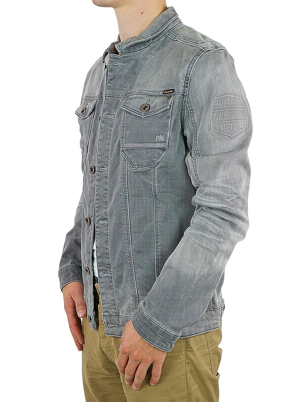 PME Legend Jeansjacke Denim Jacket Jacke für Männer Grau