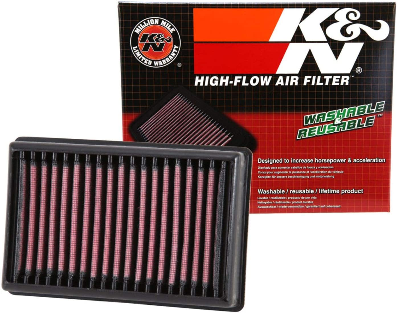 K&N Engine Air Filter: High Performance, Premium, Powersport Air Filter: 2013-2019 BMW (R1250GS, R1250GS Adventure, R1250RT,R1200GS, R1200GS Adventure, R1200R, R1200RS, R1200RT) BM-1113