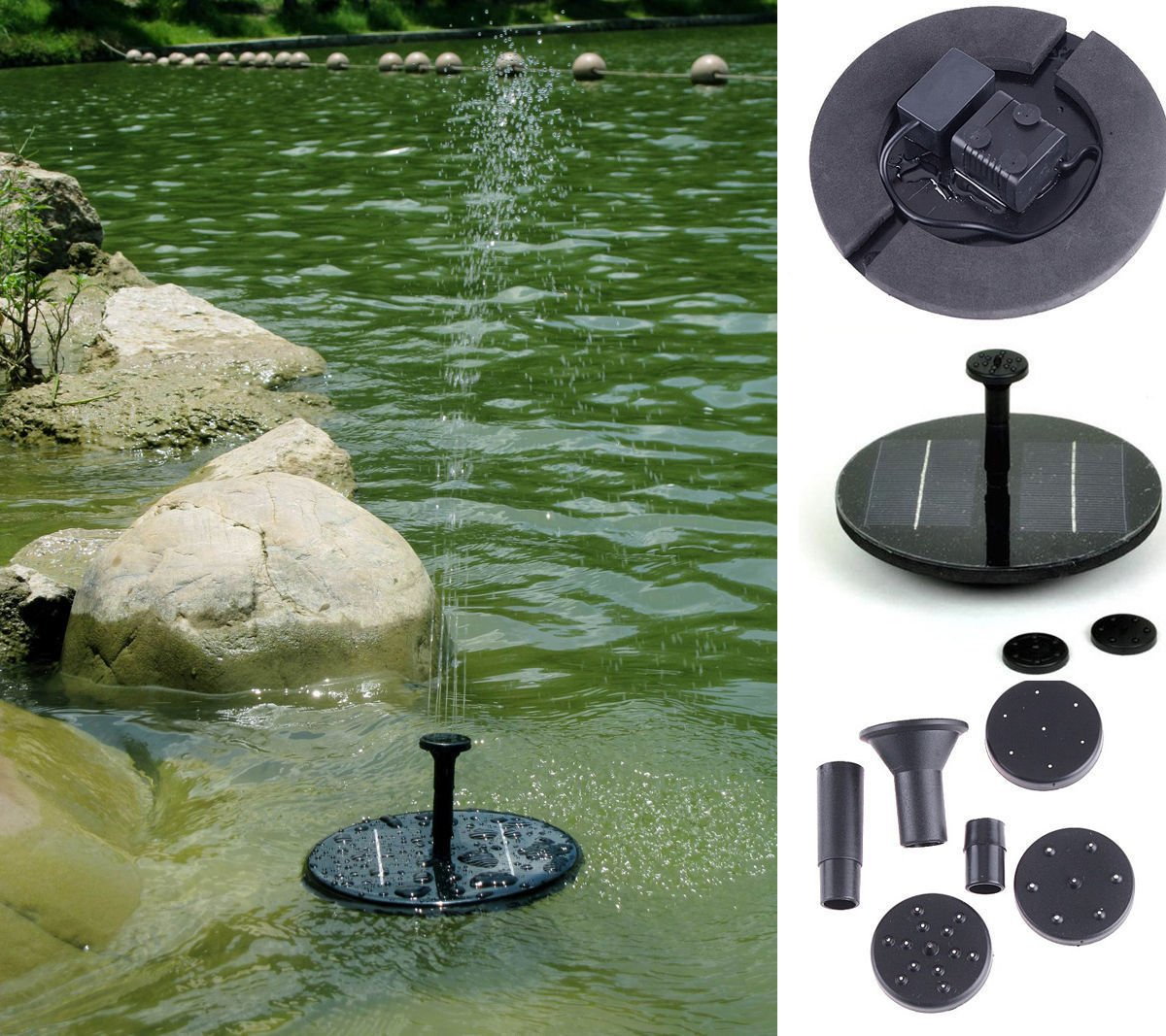 Energy Controllers 7V Floating Water Pump Solar Panel Garden Plants Watering Power Fountain Pool Pool Garden Pond Submersible Submersible solar powered charger