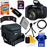 Canon Powershot SX530 HS 16.0 MP Digital Camera with 50x Optical Zoom, Built-in Wi-Fi and 1080p Full HD Video + NB-6L Battery + 9pc Bundle 16GB Accessory Kit w/ HeroFiber Ultra Gentle Cleaning Cloth