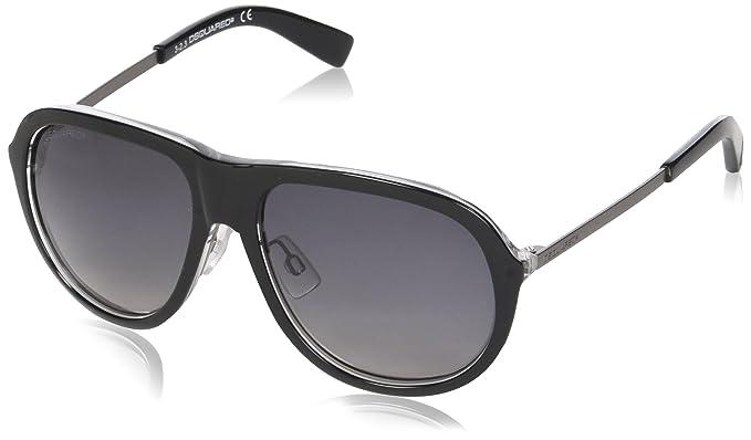 Dsquared2 Damen Sonnenbrille Eye, Schwarz (Nero), 58