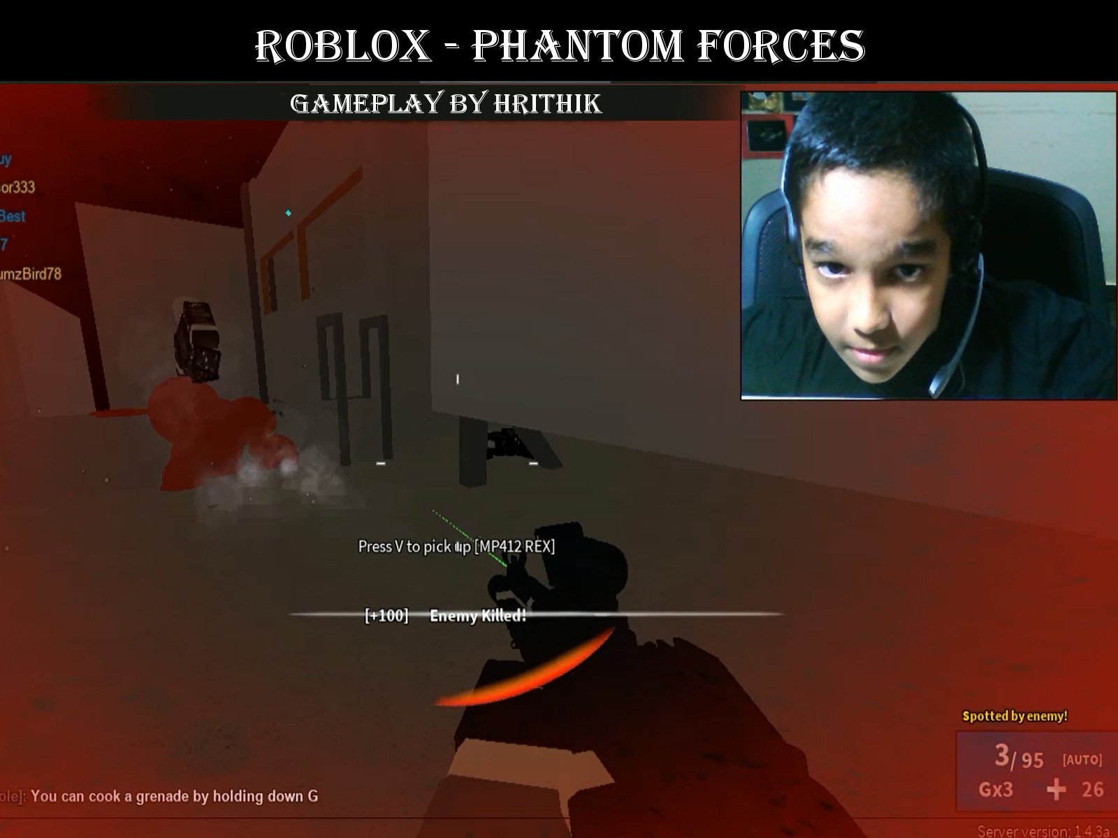 Roblox Phantom Forces Vr Not Working Watch Clip Roblox Gameplay Hrithik Prime Video