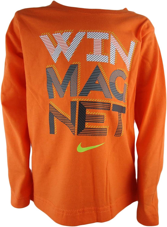 frecuentemente Madison experiencia  Amazon.com: Nike Air Boys' 'Win Magnet'Jersey T-Shirt Top (4, BRT  Mandarin): Clothing