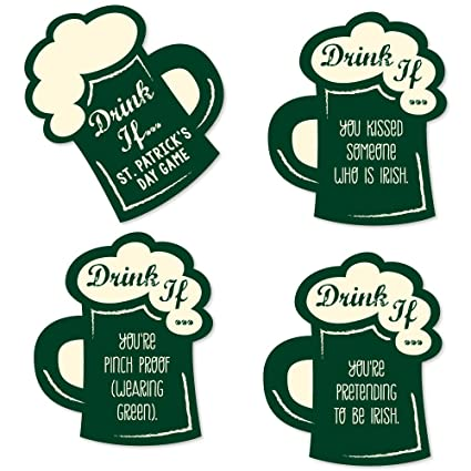 f0a3b43e1 Image Unavailable. Image not available for. Color: Drink If Game - St.  Patrick's Day ...