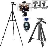 Kamera Stativ, iPhone Stativ,Smartphone Stativ,mit Handy Halterung und Bluetooth Fernbedienung Handy Stativ für iPhone Samsung und Kamera