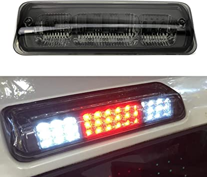 2019-up Ford Ranger 2017-up Ford F-250 F-350 iJDMTOY Smoked Lens Full LED High Mount Third Brake//Stop Light Assembly Compatible with 2015-up Ford F-150