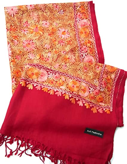 3 Count Multi-Color Scarf. Handmade 100/% SILK TAN ORANGE And AQUA Floral.