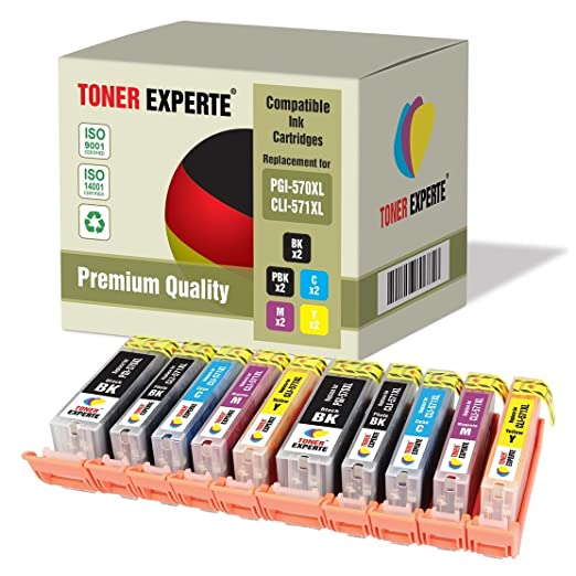 35 opinioni per Kit 10 XL TONER EXPERTE® PGI-570XL / CLI-571XL Cartucce d'inchiostro compatibili