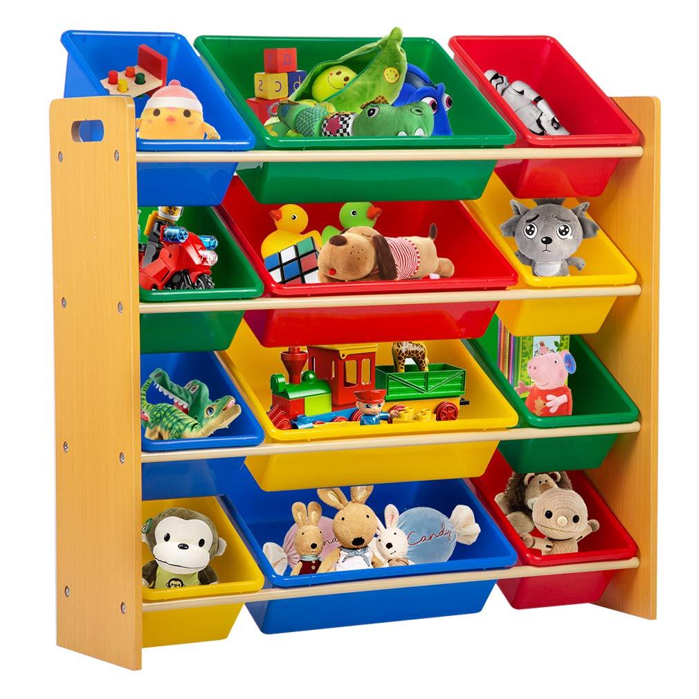 Kids Toy Storage Box Playroom Bedroom Shelf Drawer Toy Storage Organizers with Bins