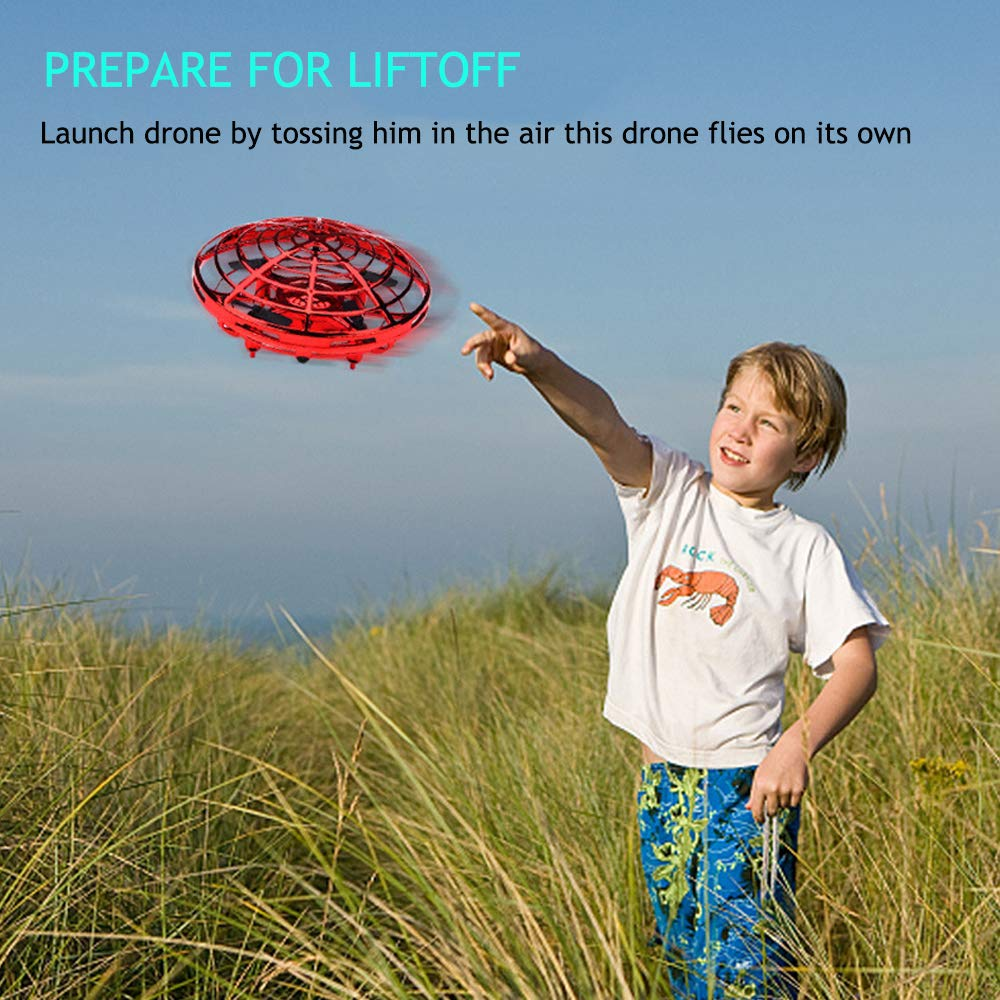 Umiwe Flying Ball Drone,Interactive Infrared Induction Helicopter Ball with 3 Micro Drone Sensors - Hands Free Hover Drone with 360°Rotating Shinning Led Lights for Beginner Drones Flying Toys by Umiwe (Image #3)