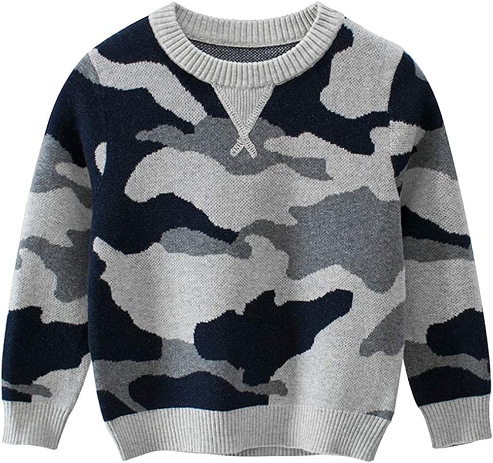Simplee kids Boy Pullover Knitting Pattern Sweater Camouflage Cotton Boy Coat for Winter and Fall 2-9T Boy