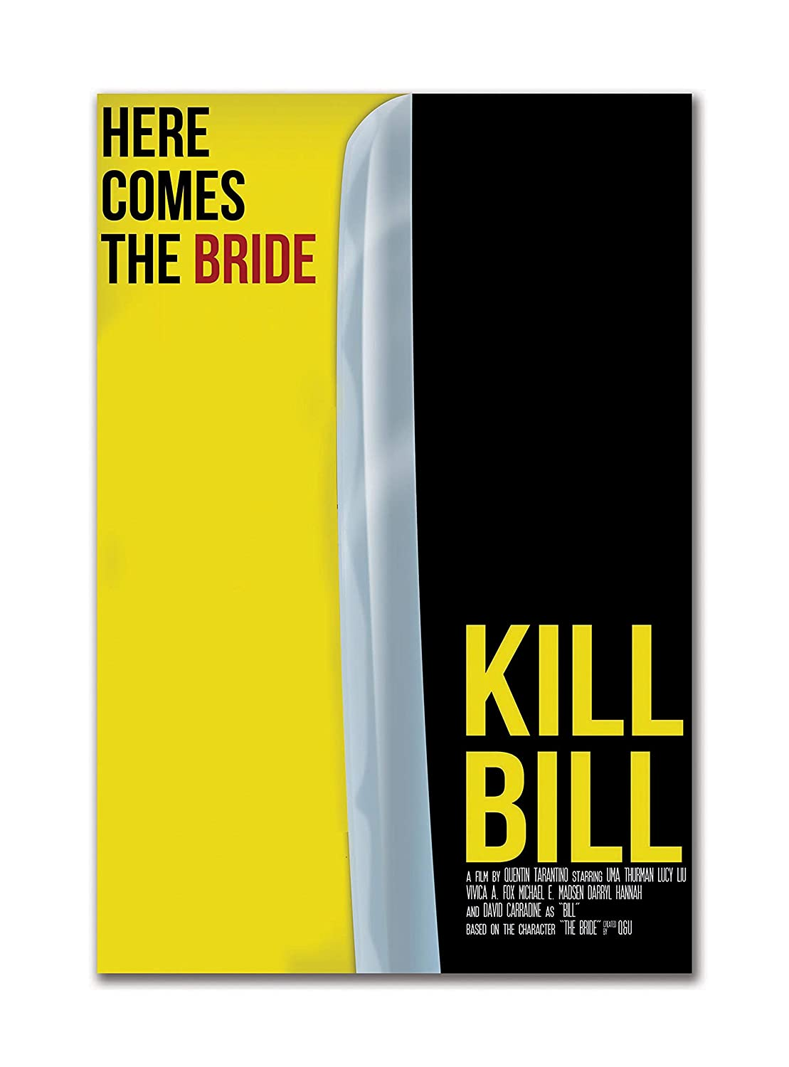 Tamatina Hollywood Movie Poster Kill Bill Volume 1 Crime Film Thriller Large Size Poster Hd Quality 18 Inches X 12 Inches 46 Cms X 30 Cms Amazon In Home Kitchen