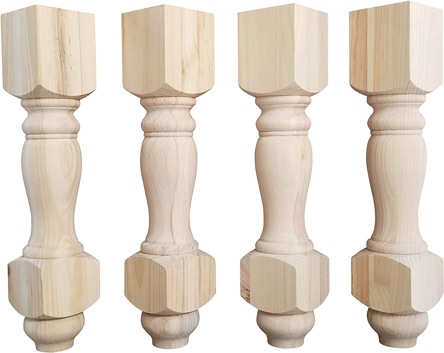 18 Inch Pine B3 Bench Legs Or Coffee Table Legs Unfinished Wood Wide Set Of 4 Amazon Com [ 1200 x 1500 Pixel ]