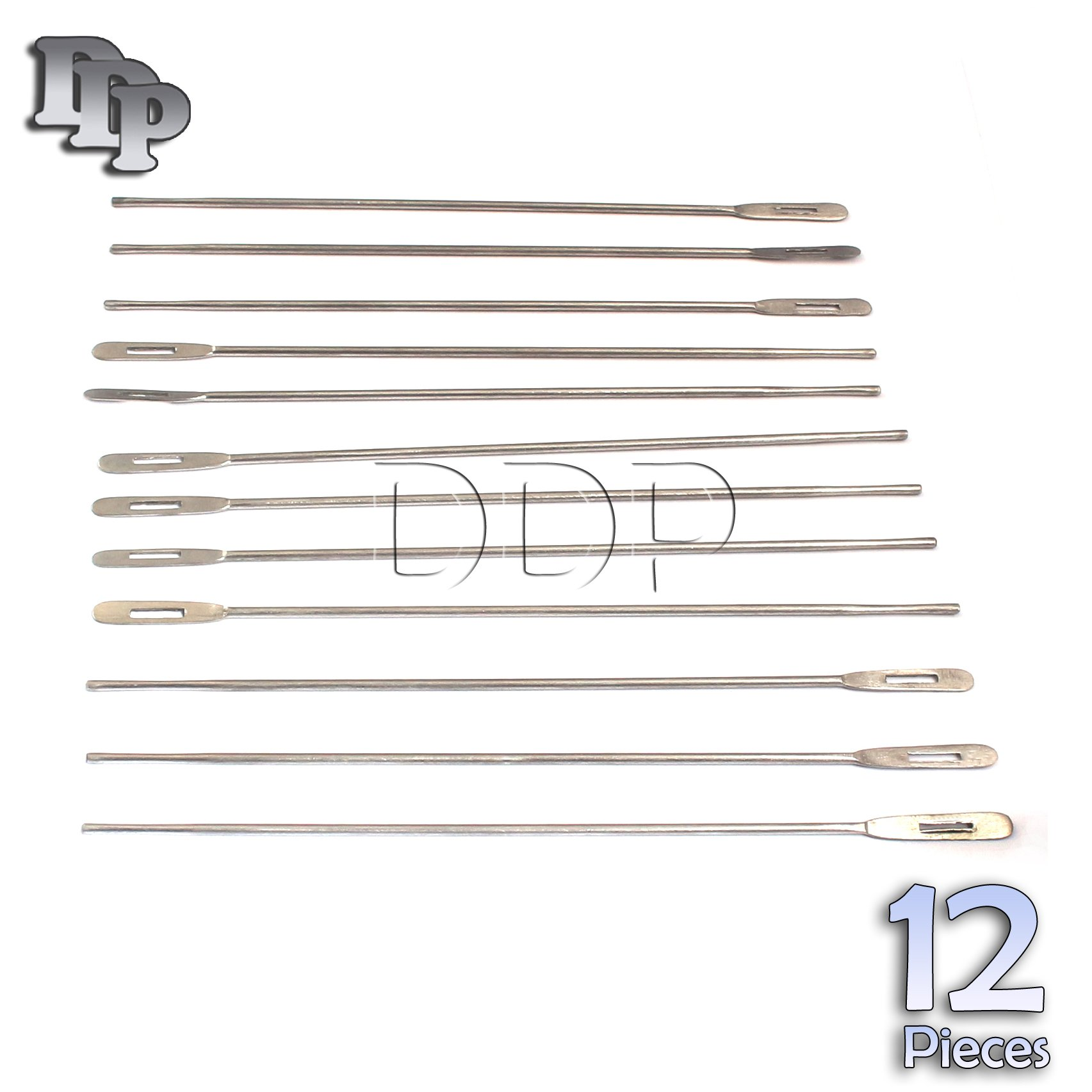 DDP SET OF 12 STAINLESS STEEL PROBE WITH EYE 5.5''