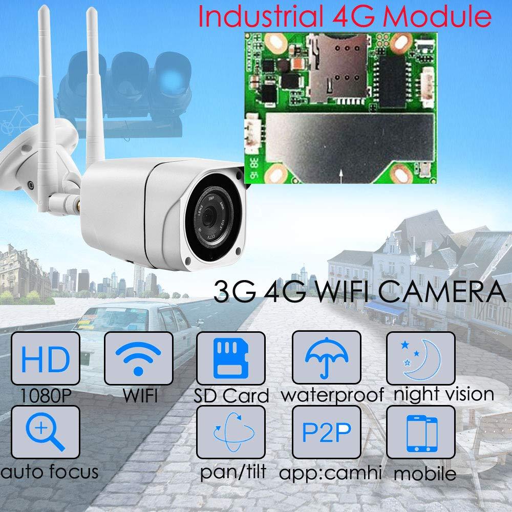 Full HD 1080P Bullet Cámara IP inalámbrica gsm 3G 4G Tarjeta SIM ...