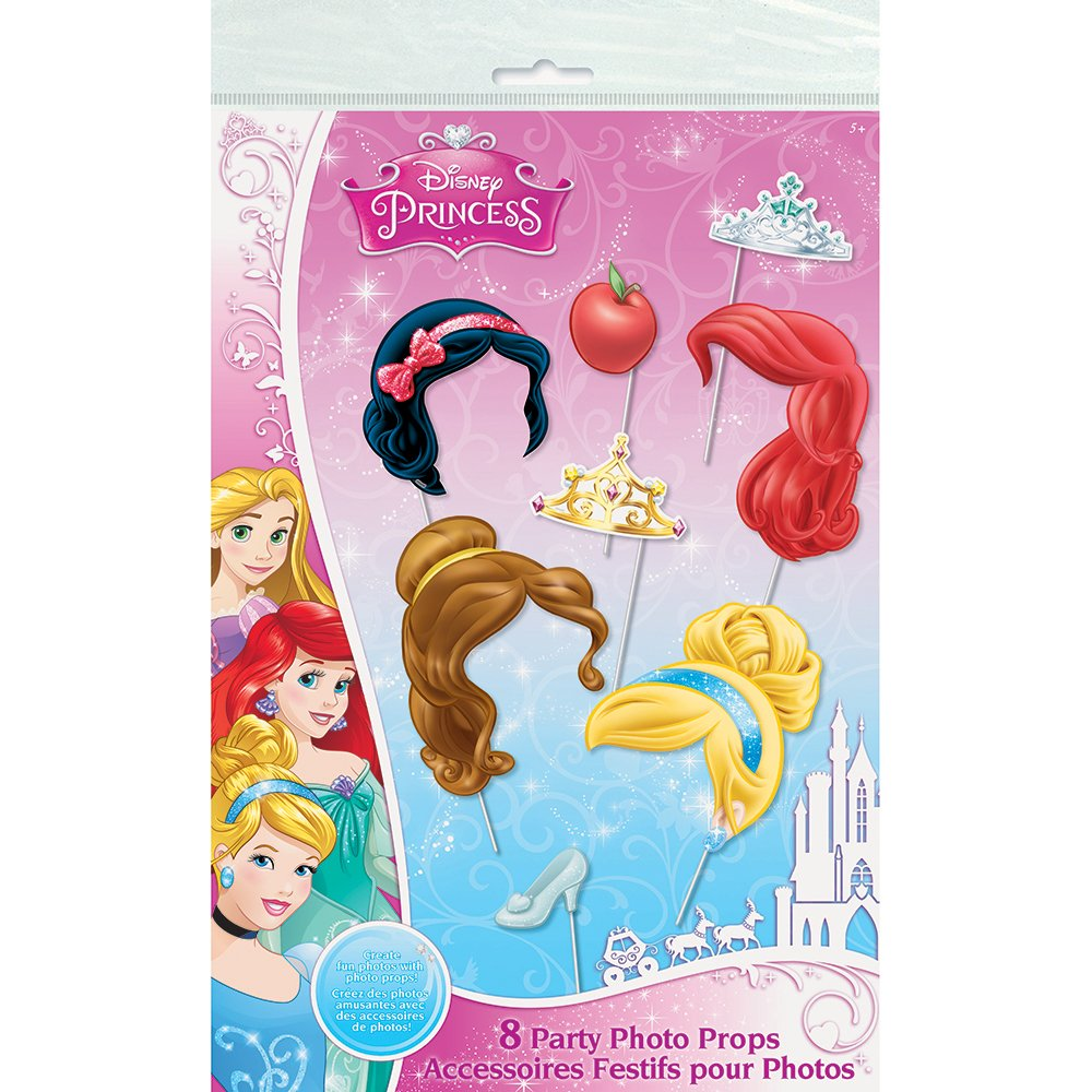 Amazoncom Disney Princess Photo Booth Props 8pc Toys Games