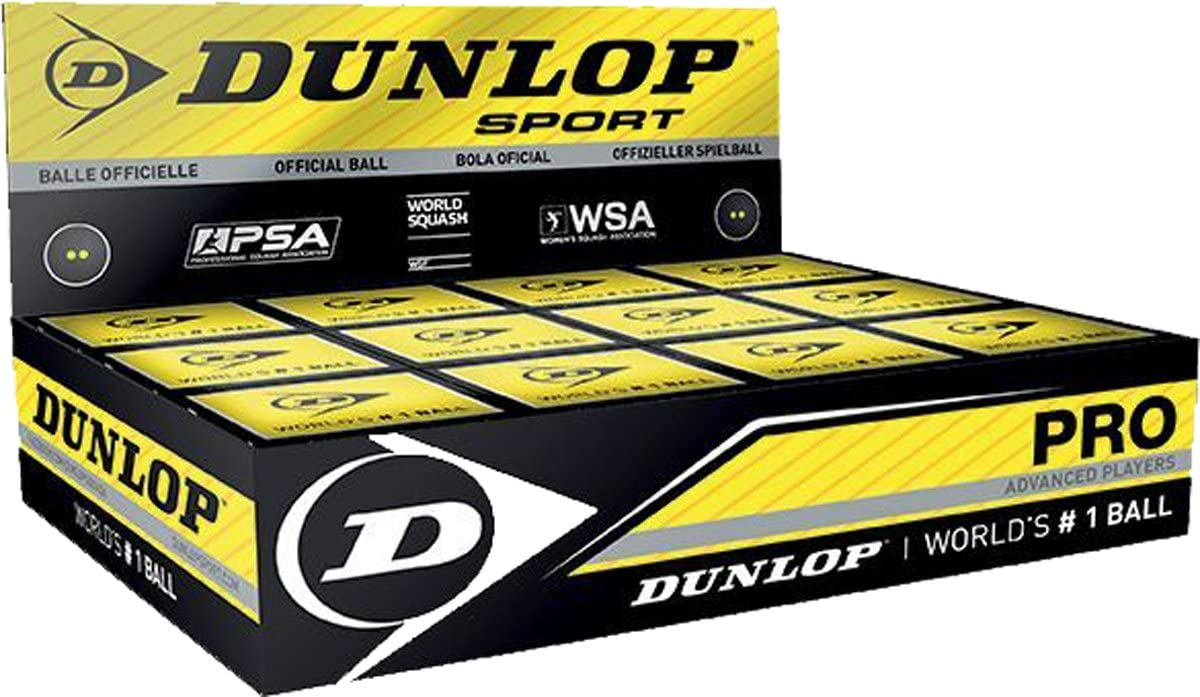 DUNLOP Pro Racquet Sports Advanced Players Tournament Competition Squash Balls