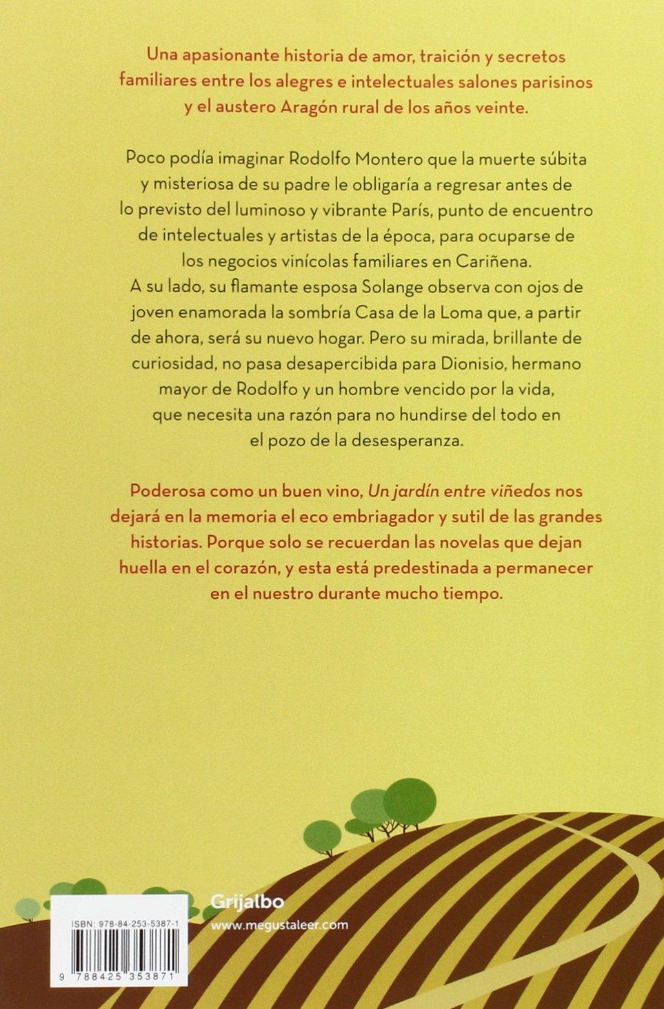 Un jardín entre viñedos (Ficción): Amazon.es: Santos, Carmen: Libros