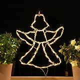 fenster silhouette weihnachten 45cm weihnachtsdeko fensterbilder beleuchtet. Black Bedroom Furniture Sets. Home Design Ideas