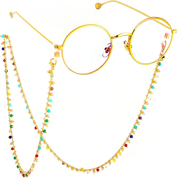 Black Fashionable Delicate Eyeglasses Glasses Chain Necklace Eyewear Cord Neck Strap Holder Neck Cord Gifts for Friends