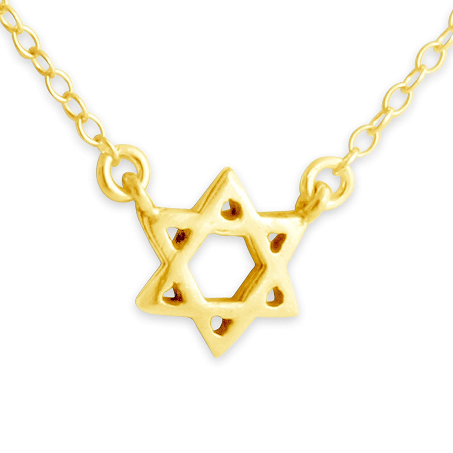Belcho USA Sterling Silver Handcrafted Star of David Jump Ring Necklace