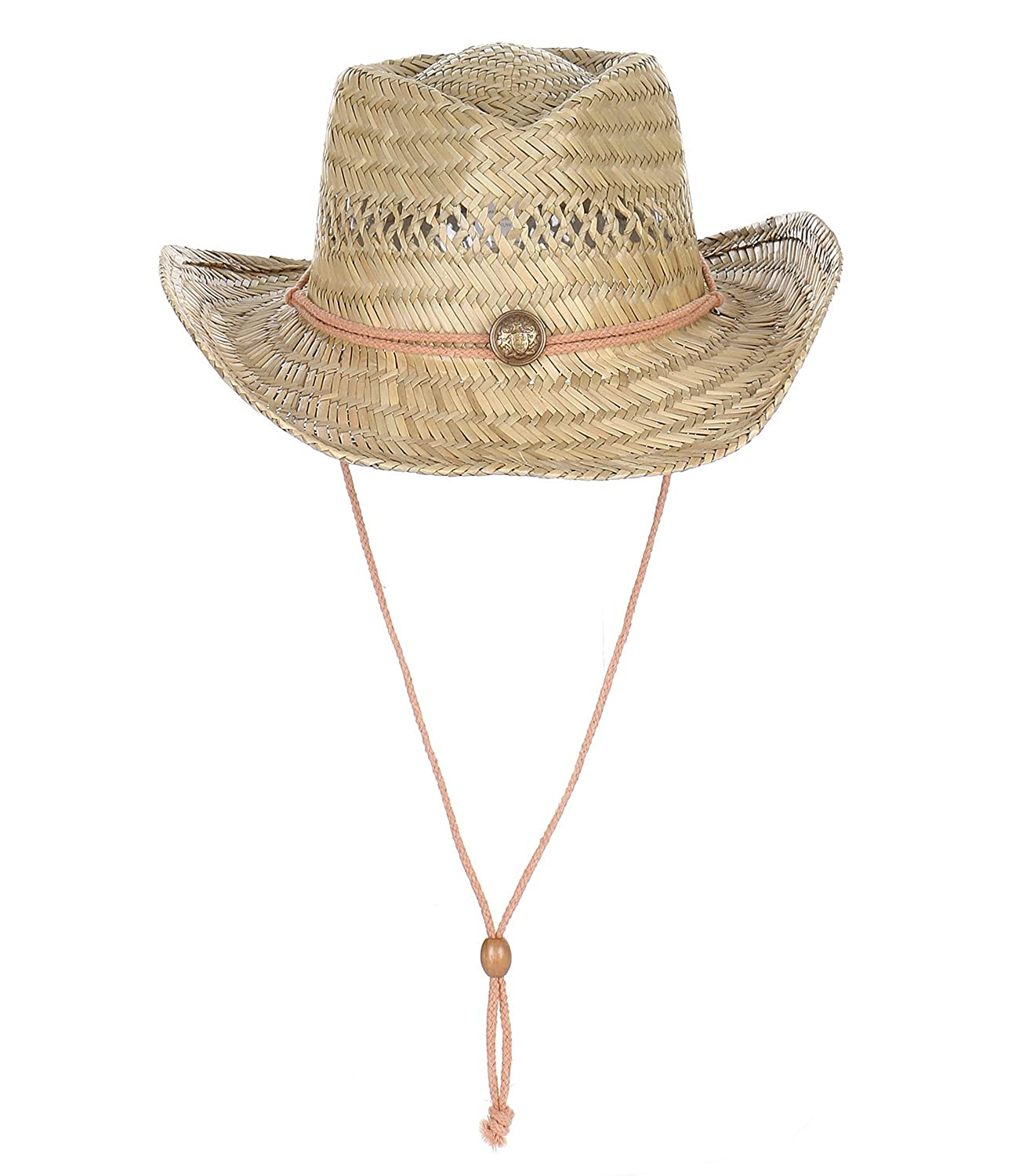 2040USA Classic Summer Protective Lifeguard Natural Straw Beach Sun Hat