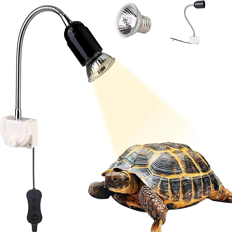 GOLDGE Lámpara para Tortuga, Bombilla compacta Spectrum Terrario Lámpara de Tortuga, 360 Grados Adecuado para Tortugas Reptiles Anfibios
