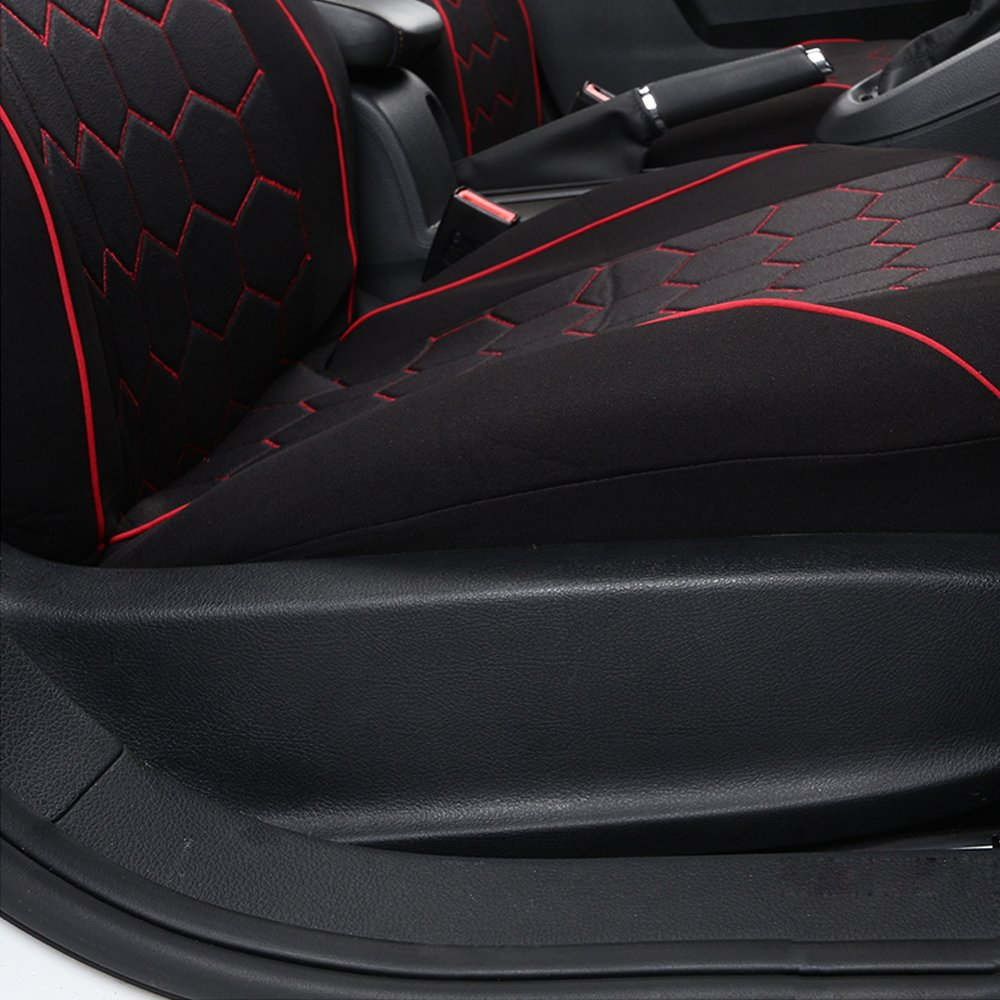 negro Accesorios para asientos delanteros y traseros fundas de coj/ín Funda para asientos de coche