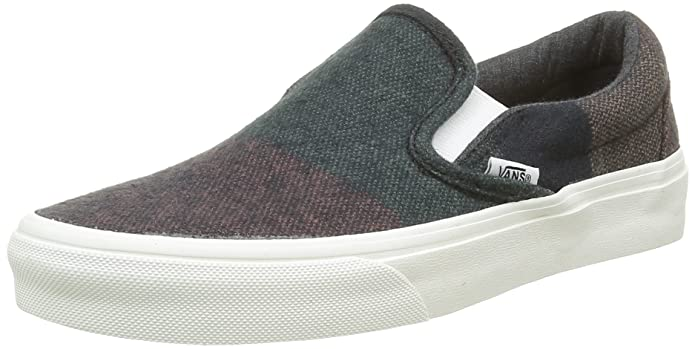 Vans Classic Slip-On Schuhe Unisex Damen Herren Low Top Wool Stripes