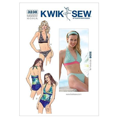 Amazon.com: Kwik Sew K3238 Swimsuit Sewing Pattern, Size XS-S-M-L-XL