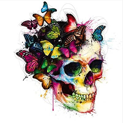 FORESTIME Diamond Painting Skull Butterfly, DIY 5D Diamond Painting Kits for adults Kids Crystal Rhinestone Diamond Embroidery Cross Stitch (Color, 30×30 cm): Toys & Games