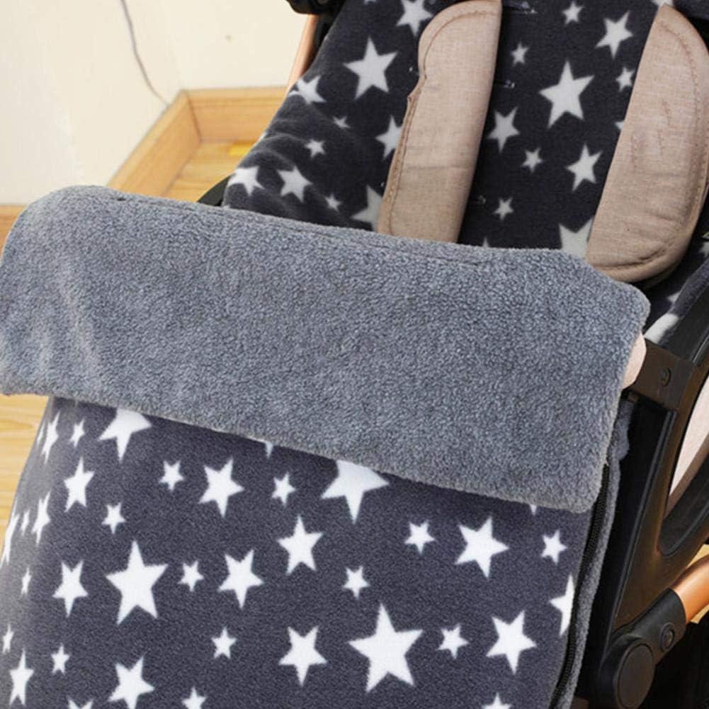 manta para beb/é saco de abrigo de invierno para beb/é superficie impermeable saco de dormir de invierno para cochecito Gris Saco de abrigo para cochecito de beb/é cuna cesta de beb/é
