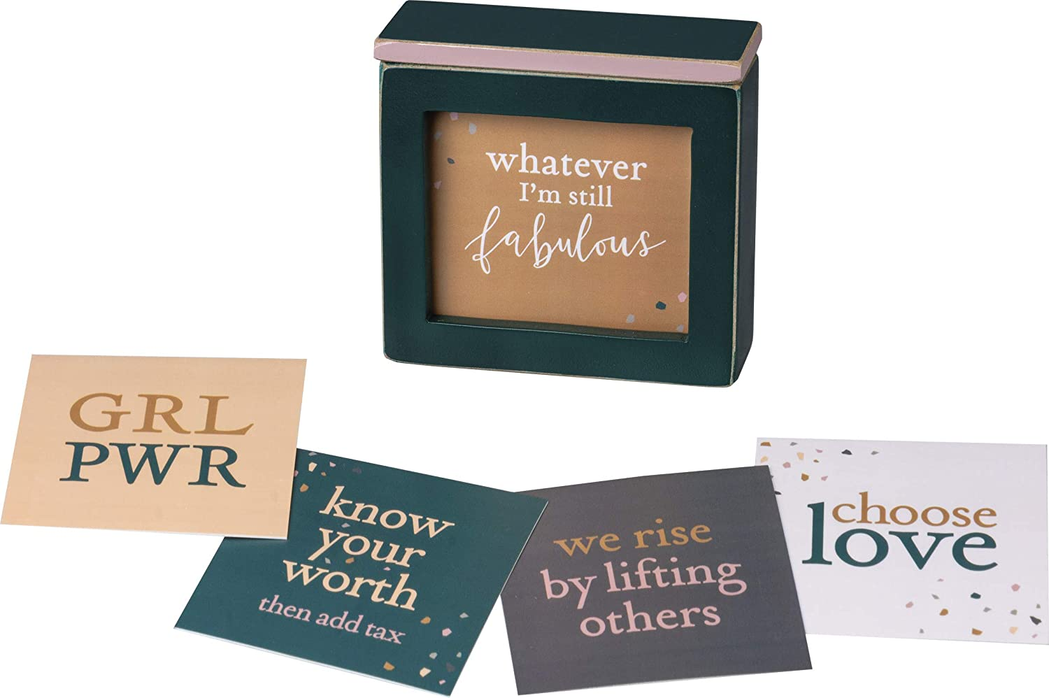 Primitives by Kathy Words of Wisdom Inspirational Keepsake Box, Empower