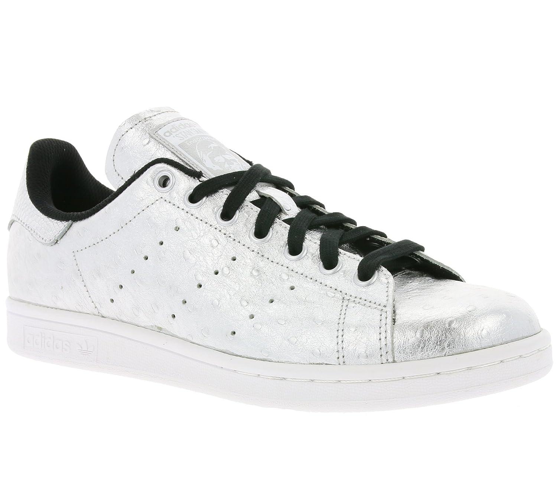 adidas Originali Stan Smith Scarpe Sneaker in Vera Pelle Scarpe da  Ginnastica Argento aq4706