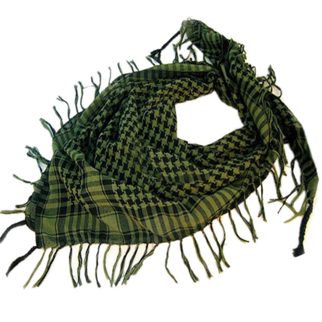 Unisex Fashion Plaid Scarf Shawl, Keepfit Arab Shemagh Keffiyeh Palestine Classic Shawl Wrap for Women Men (Green)