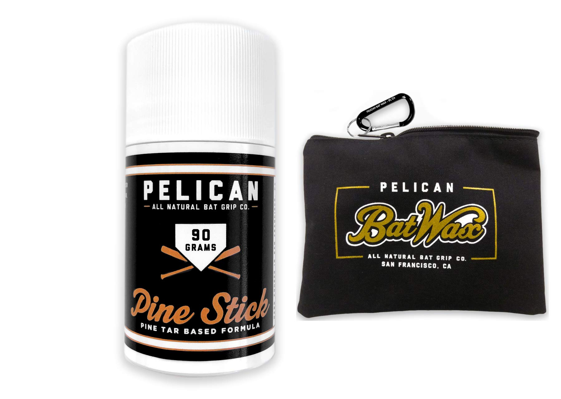 Pine Tar Pine Stick 90 Grams for Better Baseball Grip Comes with a Storage Bag by Pelican
