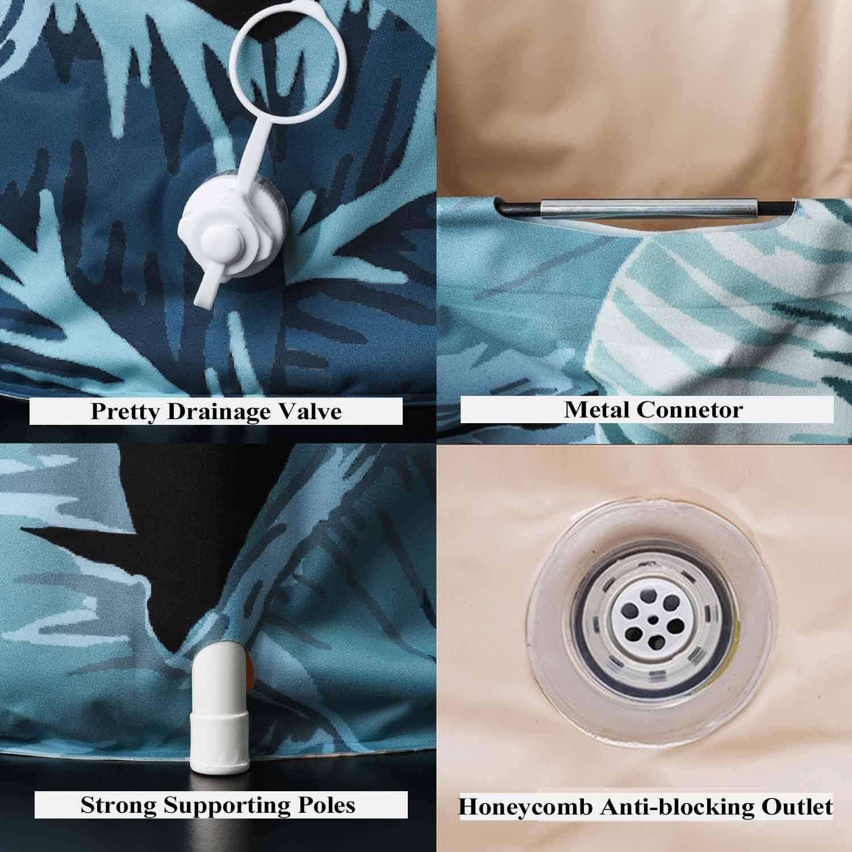 UNIKON - Bañera Plegable portátil de plástico, con Espuma térmica para Mantener la Temperatura, diseño de Cactus: Amazon.es: Hogar