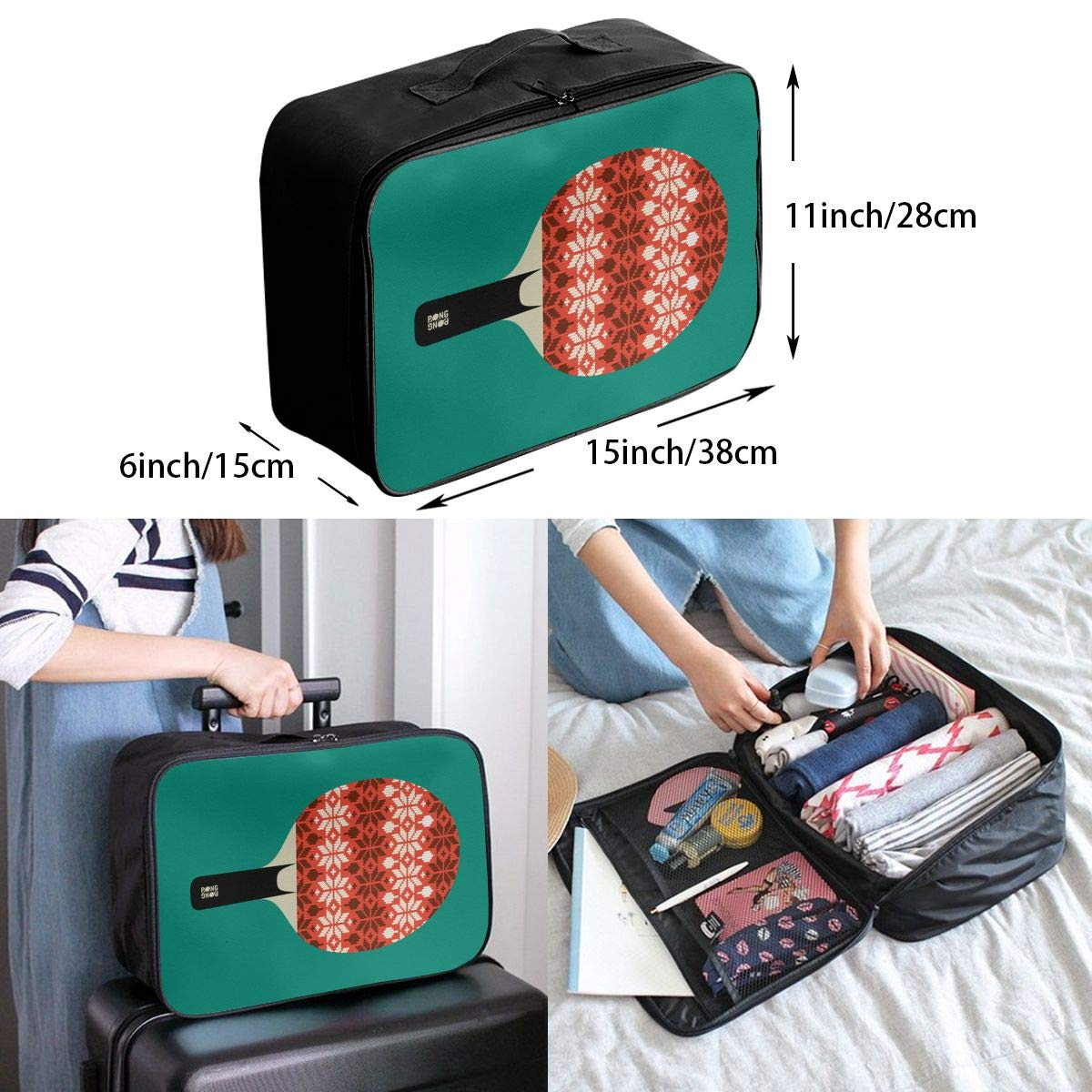 Travel Luggage Duffle Bag Lightweight Portable Handbag Table Tennis Large Capacity Waterproof Foldable Storage Tote
