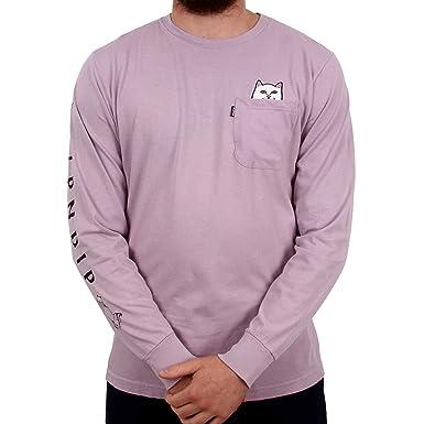 fafd7d32b22d Rip'n'Dip RIPNDIP Lord Nermal Long Sleeve T Shirt - Lavender: Amazon ...