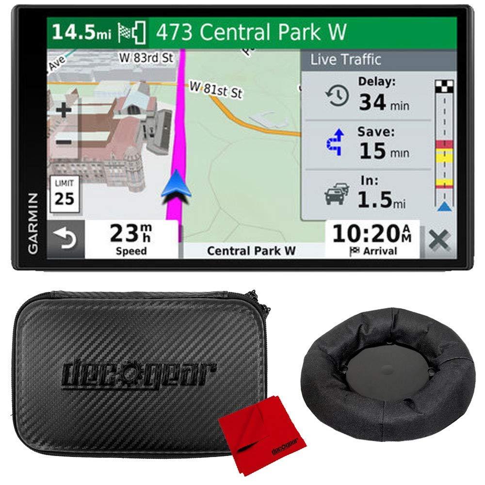 Garmin DriveSmart 65 & Traffic 6.95'' Display GPS Navigator with Case and Mount Bundle