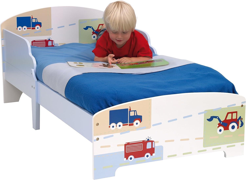 142.00x77.00x59.00 cm Madera Hello Home Cama Infantil con dise/ño de Dinosaurio Blanco