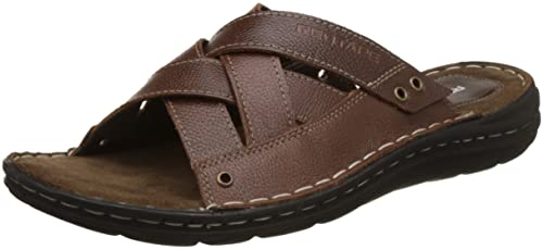 1edd8c11d Red Tape Men s Brown Leather Sandals-6 UK India (40 EU) (RSE0732 ...