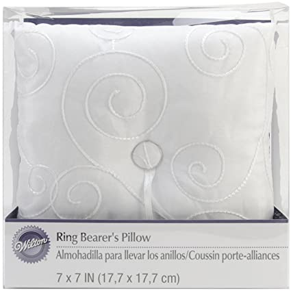 Wilton Swirl Wedding Day Collection Ring Bearer s Pillow