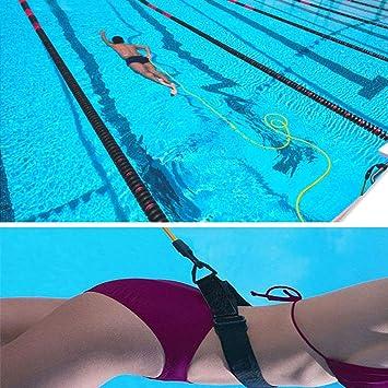 Goma Elastica Natacion Outinhao Cinturon de Natacion Ajustable Nadador Est/ático para Piscinas Entrenamiento