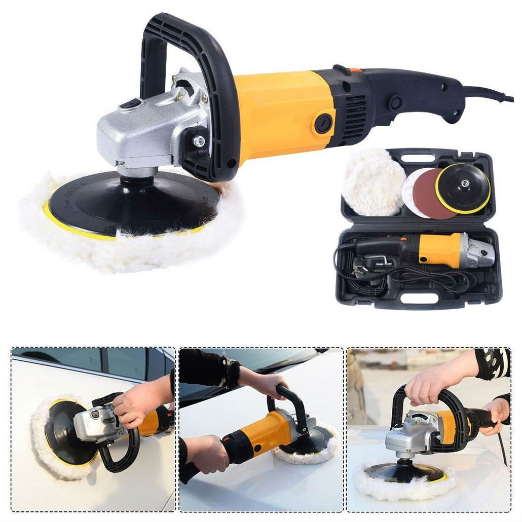New 110V 7'' Electric Variable Speed Car Polisher Buffer Waxer Sander Detail Boat