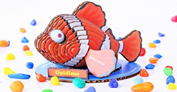 Funvention Goldimo 3D Model Puzzle Kit - DIY 3D Puzzle for Kids - Educational Toys